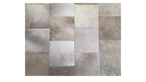Desert Cowhide Rug - Large Slanted Patches design - P27
