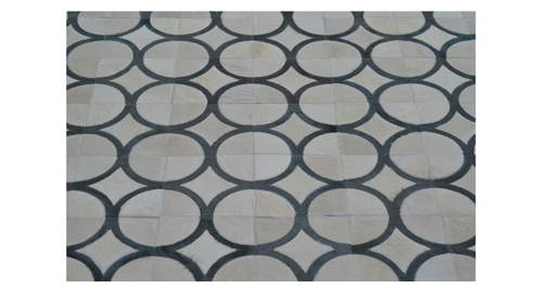 White & Grey Hide Rug - Doral Luxor design - P28