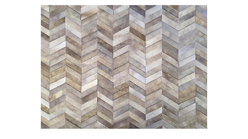 Chevron Cowhide Panel for Wall Covering