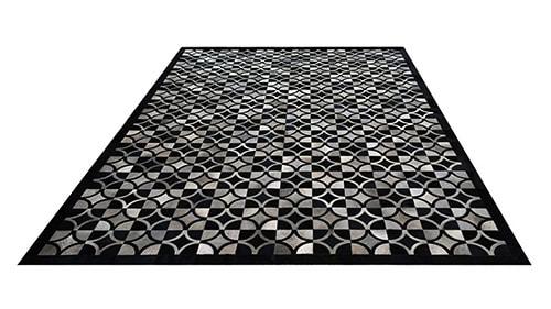 Grey & Black Hide Rug - Doral Luxor Design - NC24