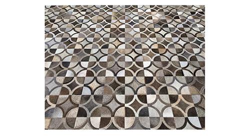 Greys & Brownish Greys Hide Rug - Doral Luxor Design - NC26