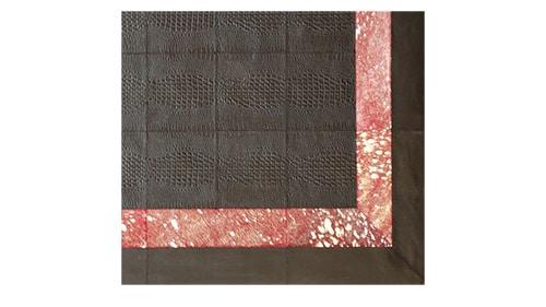Croco Embossed Leather Rug - Custom Leather Rug - LR5